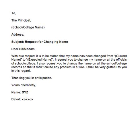 sample letter  change  request top form templates