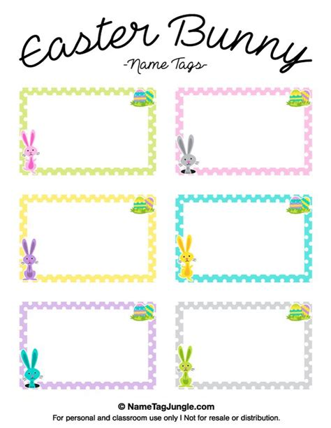 free printable easter bunny name tags the template can 981 | 825b172a387b53e6160477d340cc690a