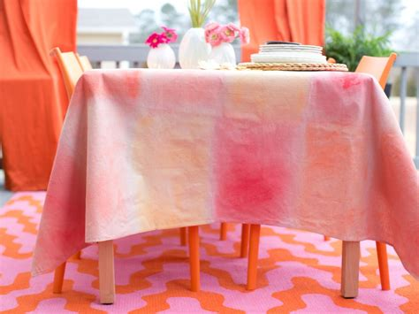 spread the plastic drop cloth out to protect your work surface from any paint that how to a tablecloth from drop cloth watercolor hgtv