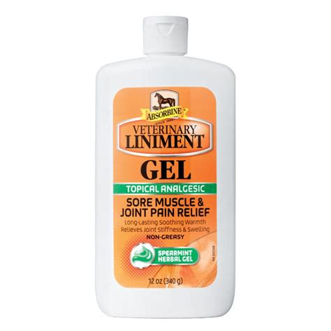 liniment gel absorbine veterinary horse oz liniments vet pain equine muscle sore upc chewy care joint relief reliever poultice hoof