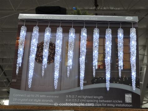 Costco Icicle Lights by Ge Twinkling Led Icicle Set