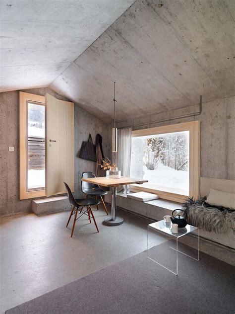 concrete cottage   swiss alps archiscene