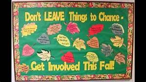 Fall bulletin board idea decoratings for teachers - YouTube