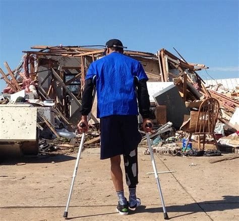Crutches-Bound Russell Westbrook Surveys Moore, Oklahoma ...