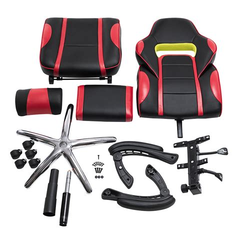 racing car swivel gaming computer office chair with padded