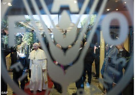 siege du pape le pape va visiter le siège du programme alimentaire