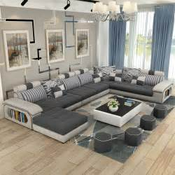 livingroom sofas luxury living room furniture modern u shaped fabric corner sectional sofa set design couches for