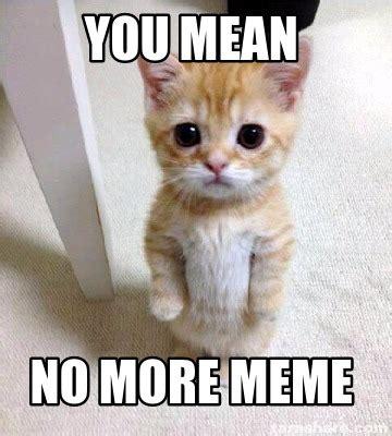 No More Memes - meme creator you mean no more meme meme generator at