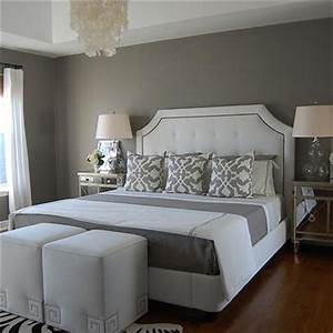 Grey Blue Bedroom Walls - Contemporary - bedroom