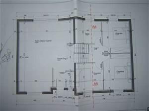 notre projet plan du rdc et de l39etage With plan maison demi niveau 6 maison demi etage interieur