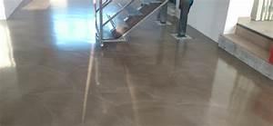 Vernis Sol Beton : parquet flottant effet beton cire id e ~ Premium-room.com Idées de Décoration