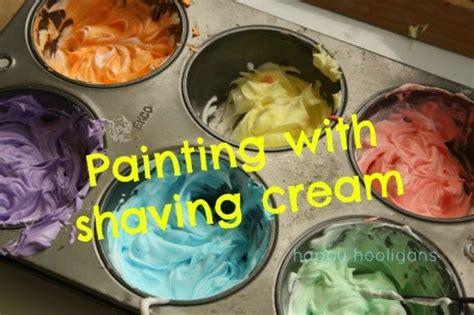 painting  shaving cream awesome sensory playart