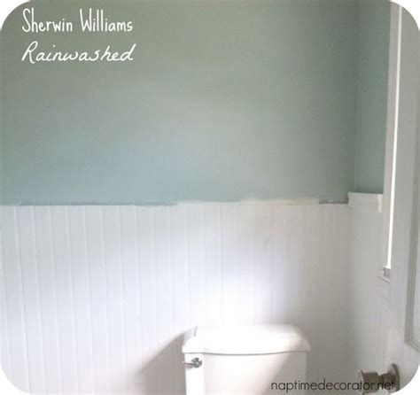 rainwashed paint color sherwinwilliams rainwashed bathroom reno in 2019