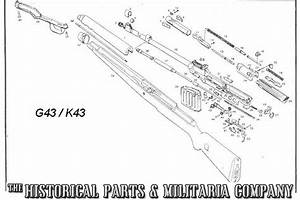 Wwii German G  K43 Parts For Sale