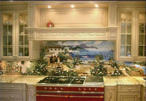 custom kitchen mural backsplash mosaics  vita nova