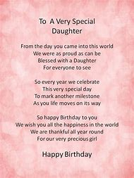 Happy Birthday Poems From Daughter