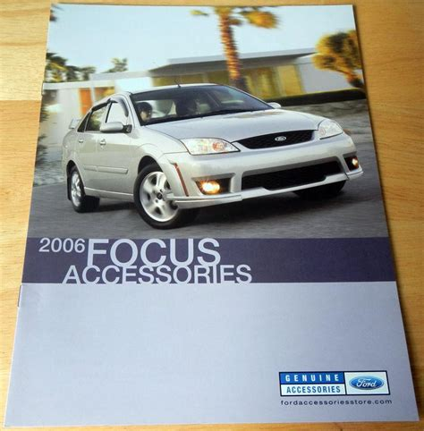 sell  ford focus accessories catalog brochure
