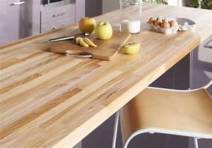 Plan De Travail En Bois : un plan de travail en bois pour une cuisine authentique ~ Dailycaller-alerts.com Idées de Décoration