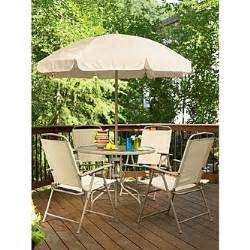 essential garden folding 6 patio set limited