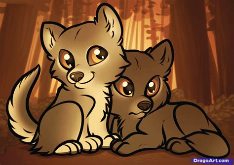 How To Draw A Cute Wolf Pup