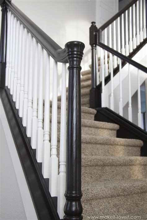 Banister Posts by Diy How To Stain And Paint An Oak Banister Spindles And