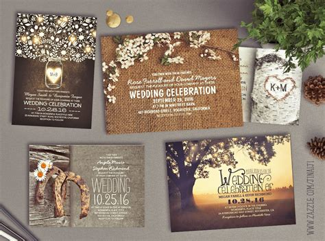 Barn Wedding Invitations : Rustic Wedding Invitations