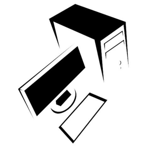 ordinateur de bureau blanc ordinateur de bureau en noir et blanc télécharger des