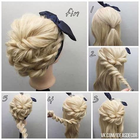 easy step  step hair tutorials  long mediumshort
