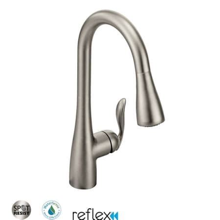 Moen 7594srs Spot Resist Stainless Single Handle Pulldown