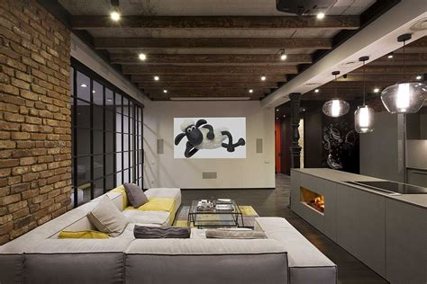 house plans with finished basements high end bachelor pad design stunning loft in kiev by
