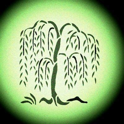 weeping willow tree stencil wall painting trees stencils