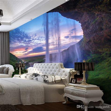 3D Wallpaper Beautiful Sunset Waterfall Photo Wall Mural ...