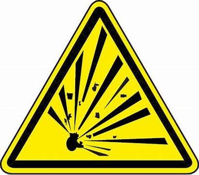 Explosive Hazard Material Symbol Triangle Iso Stencil