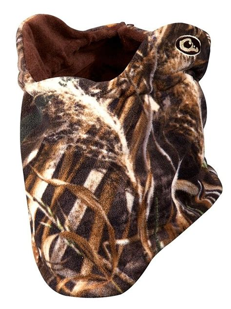 drake waterfowl systems fleece realtree max  camo neck