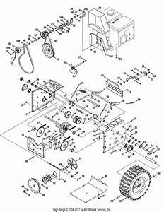 Troy Bilt 31ah95p6766 Polar Blast 3310xp  2013  Parts Diagram For Drive System