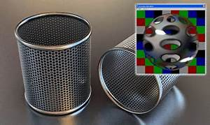 Perforated Metal Material For V Ray Renderer Free 3D Model