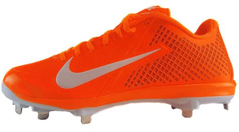 nike zoom vapor elite  metal baseball cleats orange
