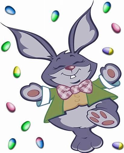 Easter Bunny Clipart Rabbit Transparent Eggs Kelinci