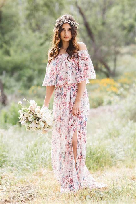 Gorgeous Floral Print Bridesmaid Dresses For Wedding