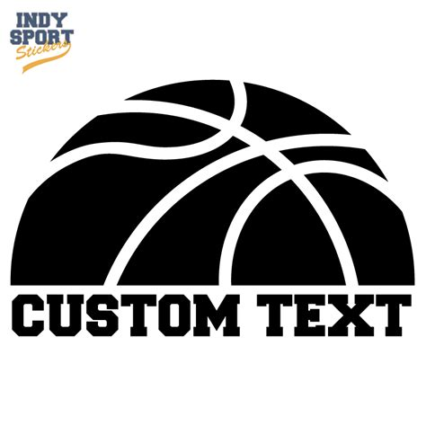 size of refrigerator half basketball silhouette with text below indy sport