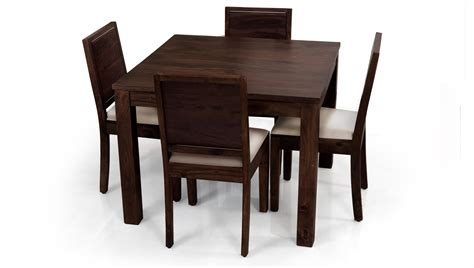 dining room table 4 chairs square dining table for 4 homesfeed