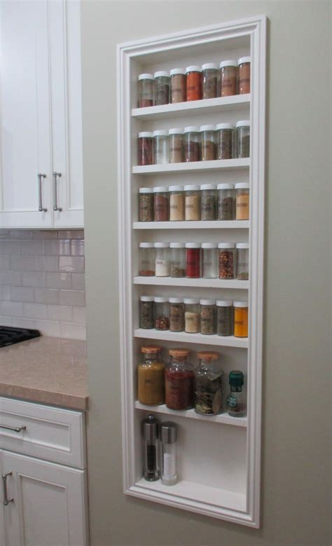 Recessed Spice Rack by Half Scale Set The Den Of Slack
