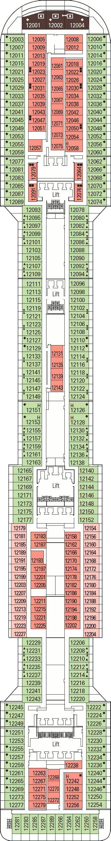 Msc Divina Deck Plan 12 by Msc Divina Deck Plans
