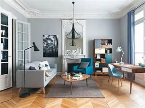 40 idees deco pour le salon elle decoration With canapé convertible maison du monde avec tapis coco sur mesure