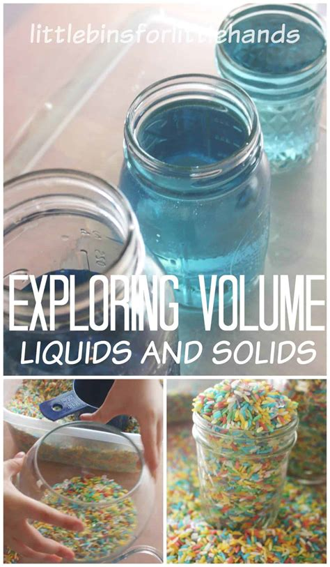 volume science experiment stem activity  kids