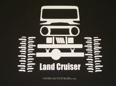 Toyota Land Cruiser Fj40 80 Crawler_ Sticker/decal -13