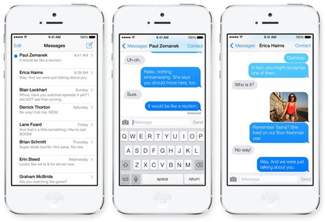 what is messaging on iphone features in ios 7