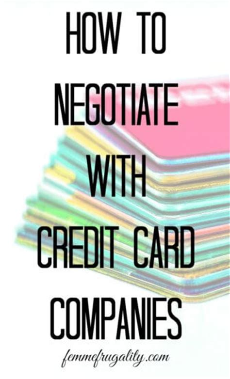While it is not impossible to negotiate a more unique settlement it may prove difficult. How to Negotiate With Credit Card Companies | Femme Frugality