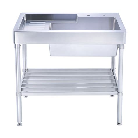 stainless steel sink with legs whitehaus wh33209 leg np pearlhaus brushed stainless steel