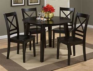 Simplicity Espresso Extendable Round Drop Leaf Dining Room